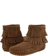 Minnetonka - Double Fringe Side Zip Boot