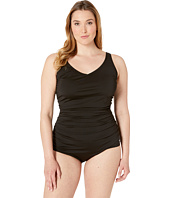 Speedo - Plus Size Side Shirred Tank One Piece