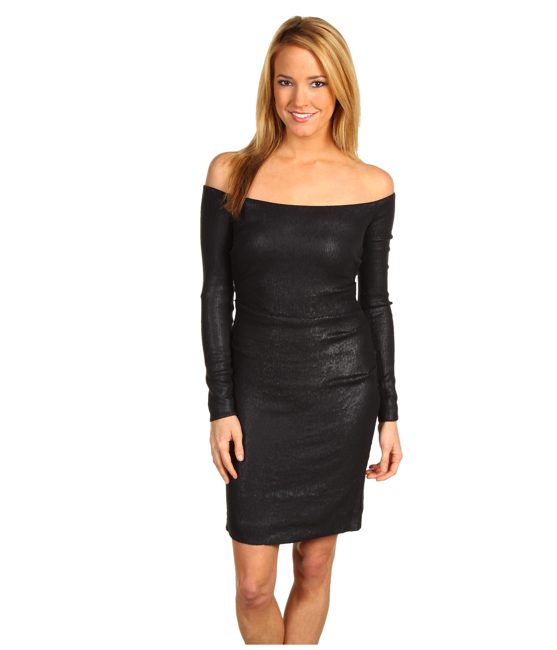 Nicole Miller Off Shoulder Sequin Dress $179.99 (  MSRP $400