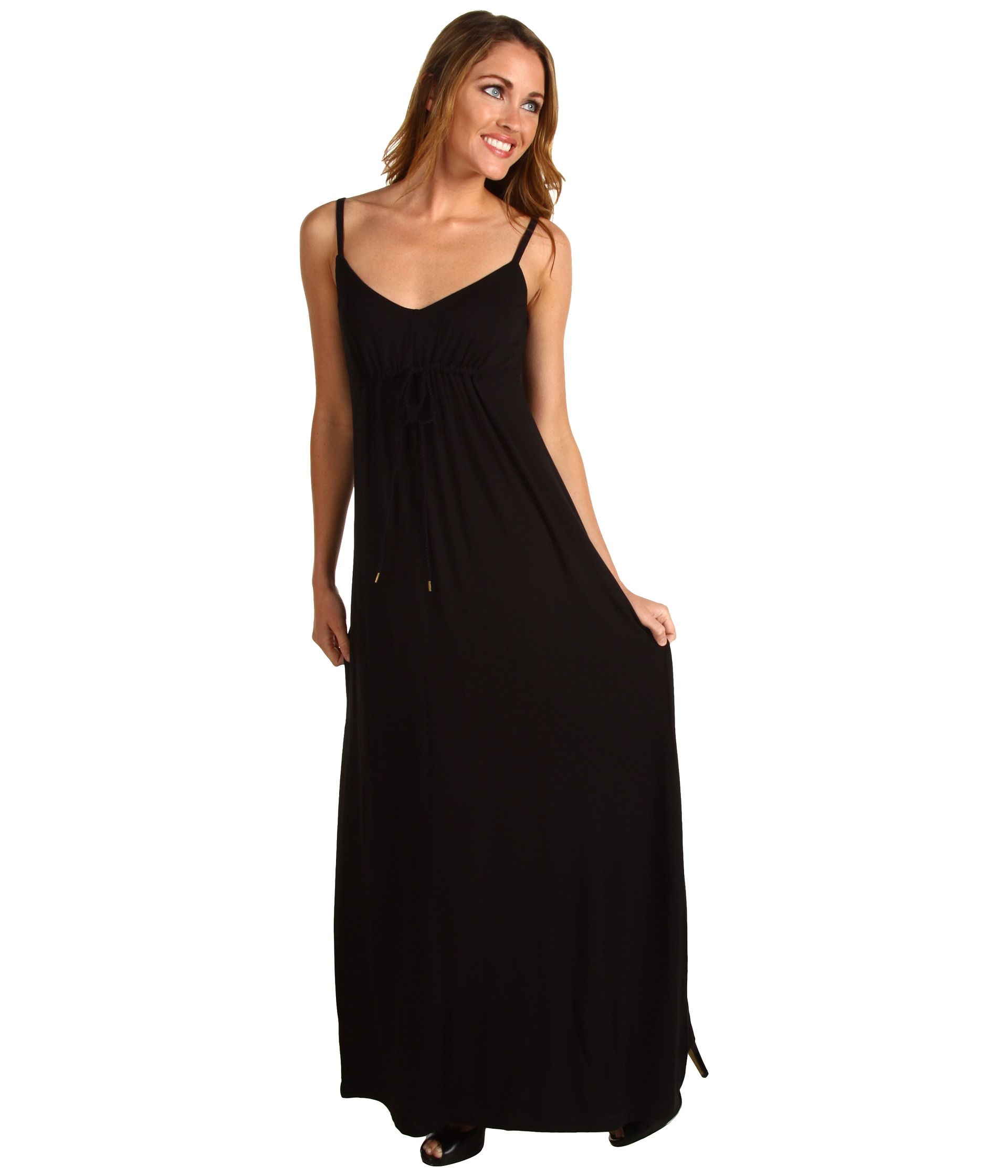 Tommy Bahama   Tambour Front Ties Long Dress