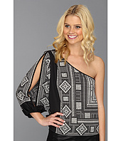 BCBGMAXAZRIA - Acacia One Shoulder Printed Top