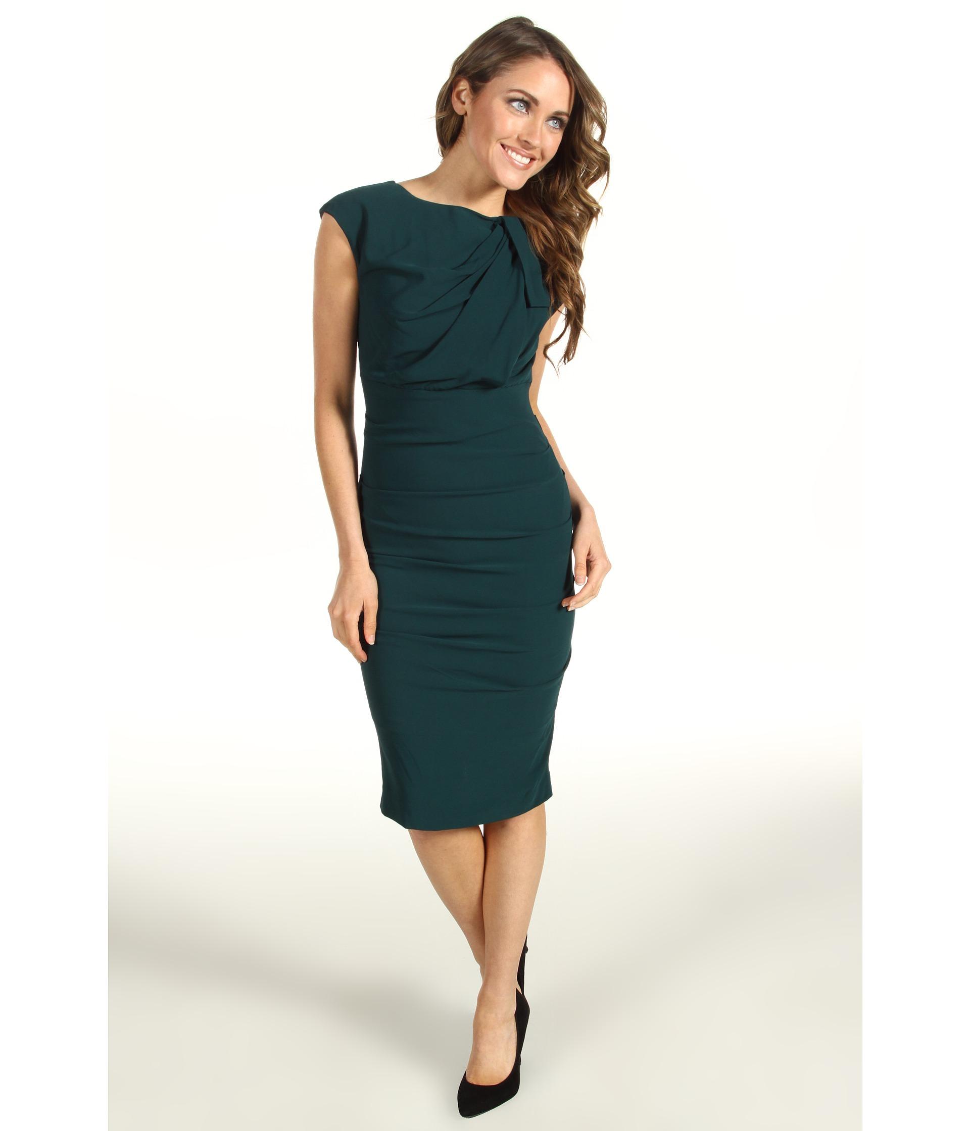 Nicole Miller Tidal Pleated Stretch Crepe Dress $319.99 $355.00 SALE