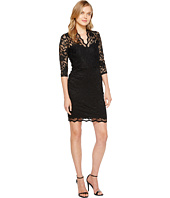 Karen Kane - V-Neck Scallop Lace Dress