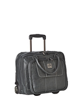 Kenneth Cole Reaction - Pebbeled Vinyl Double Gusset Top-Zip Wheeled Computer Case