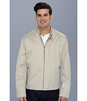 Cole Haan - Coated Cotton Moto Jacket w/ Stitch Details