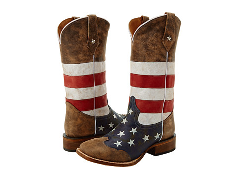 Roper American Flag Square Toe Western Boot