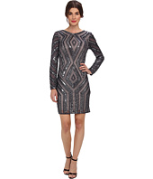 Adrianna Papell - L/S Diamond Beaded Cocktail Dress