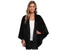 Solid Cashmere Fleece Poncho