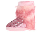 Furry Sequin Bootie Slippers
