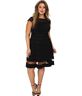 Adrianna Papell - Plus Size Gradiated Chiffon Bands Dress