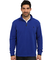 U.S. POLO ASSN. - Mock Neck 1/4 Zip Long Sleeve Rib Pullover