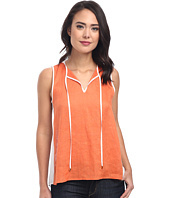 Calvin Klein - Hi-Lo Mixed Linen Top