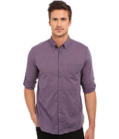 John Varvatos Star U.S.A. - Roll Up Sleeve Shirt w/ Button-Down Collar Single Pocket