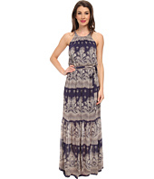 Jessica Simpson - Chiffon Printed Maxi with Lazer Cut Back