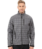 Roper - Printed Plaid On Soft Shell Jacket