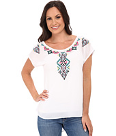 Roper - 9775 Solid Georgette Top - White