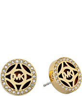 Michael Kors - Monogram Gold & Pave with Acetate Stud Earring
