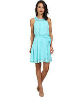 Jessica Simpson - Braided Neck Chiffon Dress JS5U7058