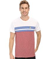 U.S. POLO ASSN. - Engineered Stripe Crew Neck T-Shirt