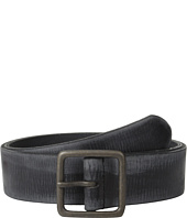 John Varvatos - 40mm Burnished Leather w/ Center Bar Buckle