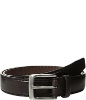 John Varvatos - 30mm Bombay Edge Stitch Brush Off Veg Buckle