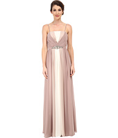 Eliza J - Tri-Tone Strapless Bustier Bodice Dress with Long Skirt