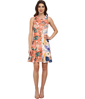 Karen Kane - Painted Floral Scuba Dress
