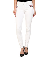 Hudson - Custom Chimera Zipper Super Skinny Jeans in White 2