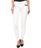 Hudson - Custom Chimera Zipper Super Skinny Jeans in White 2