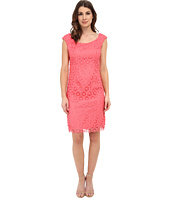 Adrianna Papell - Floral Open Lace Sheath