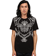 Just Cavalli - Short Sleeve Feather/Flame Graphic Slim Fit Tee