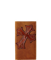 M&F Western - Large Tooled Cross Overlay Rodeo Wallet