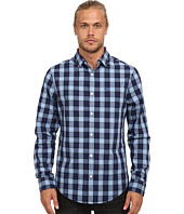 Original Penguin - Heathered Plaid Long Sleeve Woven Heritage Shirt