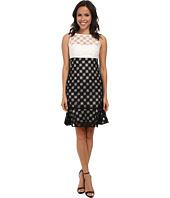 Nicole Miller - Sunburst Combo Embroidery Dress