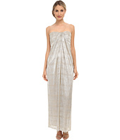Laundry by Shelli Segal - Foil Crinkle Knit Strapless Gown