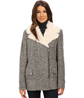 Kenneth Cole New York - Novelty Wool Coat with Faux Fur