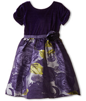 Us Angels - Velvet/Brocade Cap Sleeve w/ Flower & Full Skirt (Little Kids)