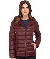 Calvin Klein - Short Packable Down Coat w/ Horizontal Quilt Pattern