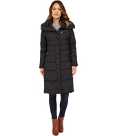 Cole Haan - Single Breast Down Coat with Asymmetrical Snap Placket