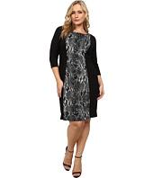 Karen Kane Plus - Plus Size Knit Panel Dress