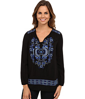Karen Kane - Embroidered Peasant Tie Top