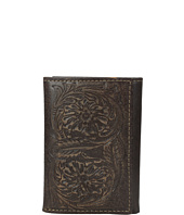 Ariat - Floral Embossed Tri-Fold Wallet