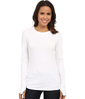 Michael Stars - Cotton Lycra Long Sleeve Crew w/ Thumbholes