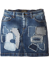 Dolce & Gabbana Kids - Mediterranean Distressed Denim Skirt (Toddler/Little Kids)