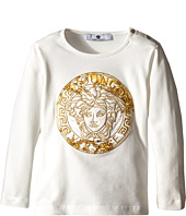 Versace Kids - Medusa Print w/ Stone Graphic Long Sleeve Tee