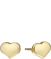 Roberto Coin - Solid Heart Stud Earrings - Tiny Treasures