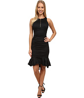 Nicole Miller - High Neck w/ Zip and Ruffle Hem Dress