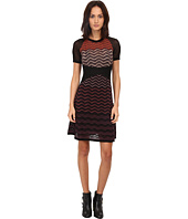 M Missoni - Ripple Stitch Short Sleeve Mesh Dress