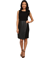 Calvin Klein - Sleeveless Dress w/ Faux Leather Flap