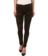 Hudson - Lilly Mid Rise Ankle Skinny w/ Flap Jeans in Combat Combo